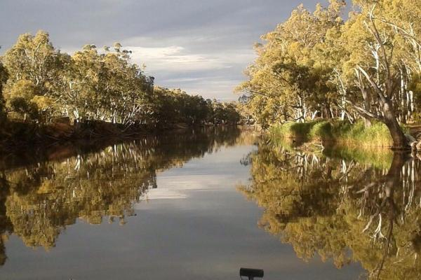 Fishing on the Edward River